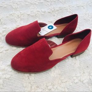 Universal Thread red Maeve square toe flat loafers